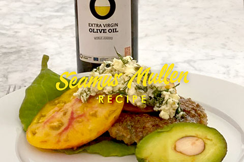 Spiced Lamb burgers with Olive Oil from Spain By Seamus Mullen
